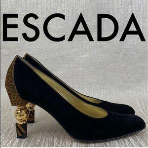 👑 ESCADA LEOPARD HEELS 💯AUTHENTIC